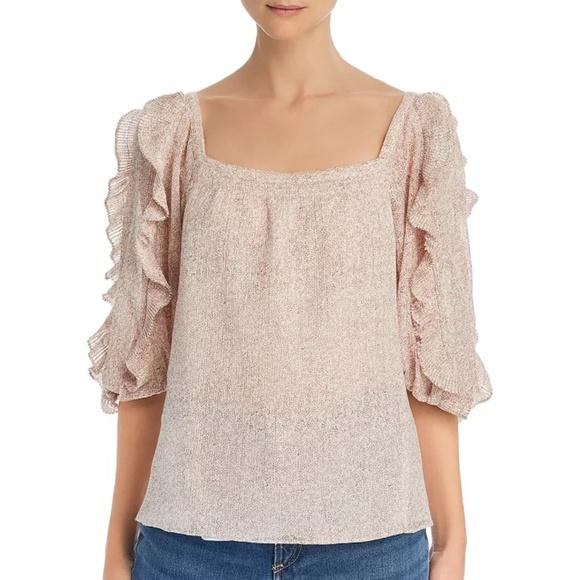 Rebecca Taylor Womens Wool Silk Blouse